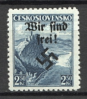 1938 Germany Occupation of Rumburg Sudetenland 2.50 Kc (MNH)