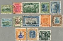 1921-29, 1/2 d. - 10 s., full set of (13) with cancellation, wmk Mult Script CA,