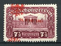 1921 Tyrol Austria Local Post (Shifted Overprint)