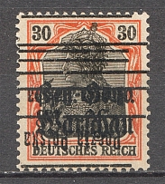 1918-19 Poland 30 Pf (Inverted Overprint)