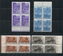 1948 USSR. Sport. Solovyov 1309 1312. Block of four. Condition **.
