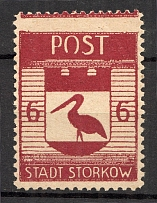 1945 Storkow Germany Local Post 6 Pf (Rebound Perf, MNH)