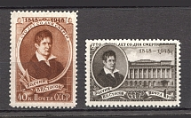 1948 USSR 100th Anniversary of the Death of Stasov (Full Set, MNH)