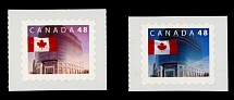 Canada, 2002, Flag over Head Post Office, 48c multicolored, blue color omitted