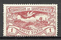 1920 Germany Joining of Silesia 1 M (Unprinted `K`, Print Error)
