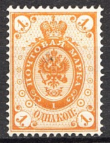 1891 Russian Finland 1 Kop (Print Error, Shifted Background, MNH)
