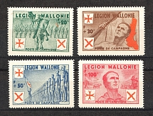 1942 Germany Reich Belgian Wallonia Legion (Full Set, CV $150, MNH)