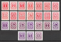 1949-57 Austria Postage Due Stamps (CV $40, MNH)