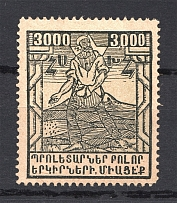 1922 Russia Armenia Civil War 3000 Rub (Without Background, Printing Error)