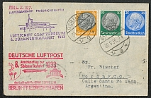 1933 Zeppelin cover to South america Berlin - Moron