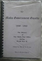 Literature Malta Government Gazette 1939-45: The History of The Malta Post Offic