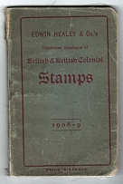 Literature Edwin Healey & Co's priced catalogue of stamps of GB & Colonies 1908,