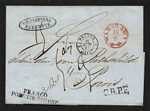1847 Cover from Warsaw to Paris, France
