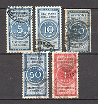 Germany Statistical Fee Stamps (Canceled)