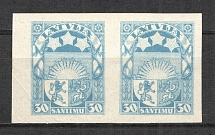 1927-33 Latvia Pair 30 S (Probe, Proof, MNH)