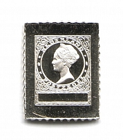 1926-29 Netherlands 9 C(Sterling Silver Miniature, Greatest Stamps of The World)