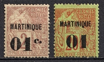 1888-91 Martinique, French Colonies (CV $20)