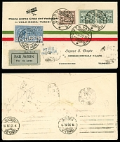 Vatican City First and Pioneer Flight Covers December 10-11, 1929, Rome - Tunis