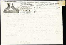 1900 Great Barrier Pigeongram, form Nr. 2, franked by 1s blue and tied by 1900 o