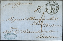 1858, unpaid entire letter from