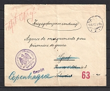Letter of Prisoner of War from Germany to Russia, Redirected in Copenhagen. German Censorship