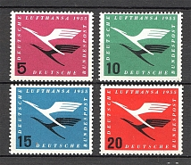 1955 Germany Federal Republic Airmail (CV $50, Full Set, MNH)