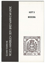 Literature Die Briefmarken von Modena by RUDOLPHI, 29pp illus - more detail than
