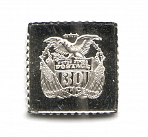 1869 USA 30 Cent (Sterling Silver Miniature, Greatest Stamps of The World)