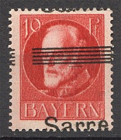 1920 Saarland Germany (Shifted Overprint, Signed, MNH)