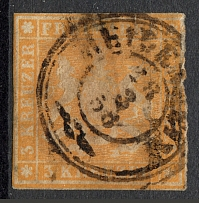 1857 Wurttemberg Germany (Cancelled)
