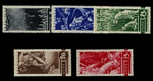 Soviet Union, 1935, Anti-War Propaganda issue, 5k-35k, complete set of five
