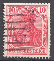 1919 Liepaja Libau Latvia Germany Occupation 10 Pf (CV $80, Cancelled)