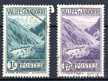 FRANZÖSISCH ANDORRA, Michel no.: 39, 42 USED, Cat. value: 175€