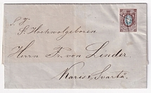 January 21, 1858. franked with stamp # 1 on a letter from Revel. Cancellation with a feather and a pre-stamped stamp of