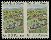 1969, Folklore issue, 6c multicolored, horizontal pair imperforated between stamps, full OG, NH