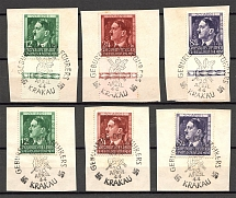 1944 General Government Germany (Special Cancellation Krakow, Full Sets)