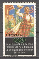 1940 Latvia Olimpic Games Baltic Non-Postal Label (MNH)