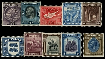 Cyprus, 1928, 50th Anniversary of the British Rule, ¾pi- £1, cplt set