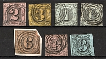 1852-58 Thurn und Taxis Germany (CV $100, Cancelled)