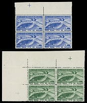 Vatican City 1949, 75th Anniversary of the UPU, complete set in blocks of four