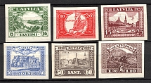 1928 Latvia (CV $30, Imperf, Full Set)