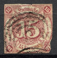 1859-61 Thurn und Taxis Germany 15 Kr (CV $180, Cancelled)