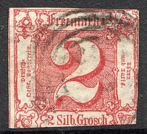 1859-61 Thurn und Taxis Germany 2 Gr (CV $90, Cancelled)