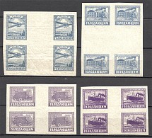 1922 RSFSR Semi-postal Charity Issue Gutter-Blocks (Full Set, MNH)