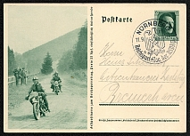 1937 Reich party rally of the NSDAP in Nuremberg. 9 used postcard Special postmark date 11.9.1937