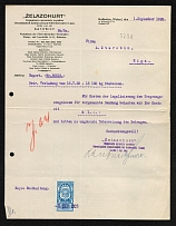 1928 Latvia Riga `Zhelezogurt` in Katowice, Document