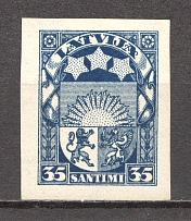 1929-32 Latvia 35 S (Probe, Proof, MNH)
