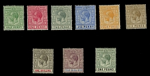Bahamas, 1912-19, King George V, ½p-£1, cplt set, wtmk Multiple Crown CA