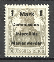 1920 Germany Joining of Marienwerder (Short `M`)