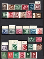 1944-45 Third Reich, Germany Collection (Full Sets, CV $35, MNH)